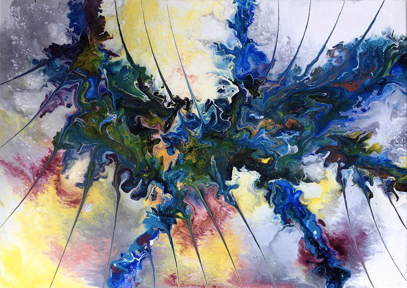 Silvère Jarrosson, Creatures 13, acrylique sur toile, 70x50cm, 2014