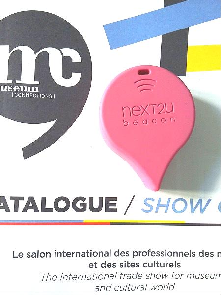 Un exemple de beacon, petit boîtier électronique. ici beacon de la société NEXT2U.