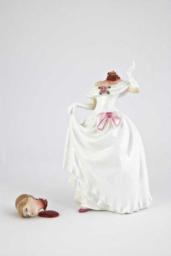 Jessica Harrison, Ruby, 2010, found ceramic resin, enamel paint, 19 x 11 x11 cm