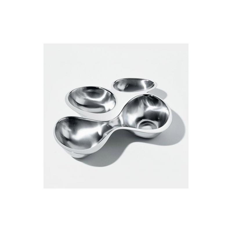 Magnifique plat apéritif en acier, design by Ron Arad pour Alessi