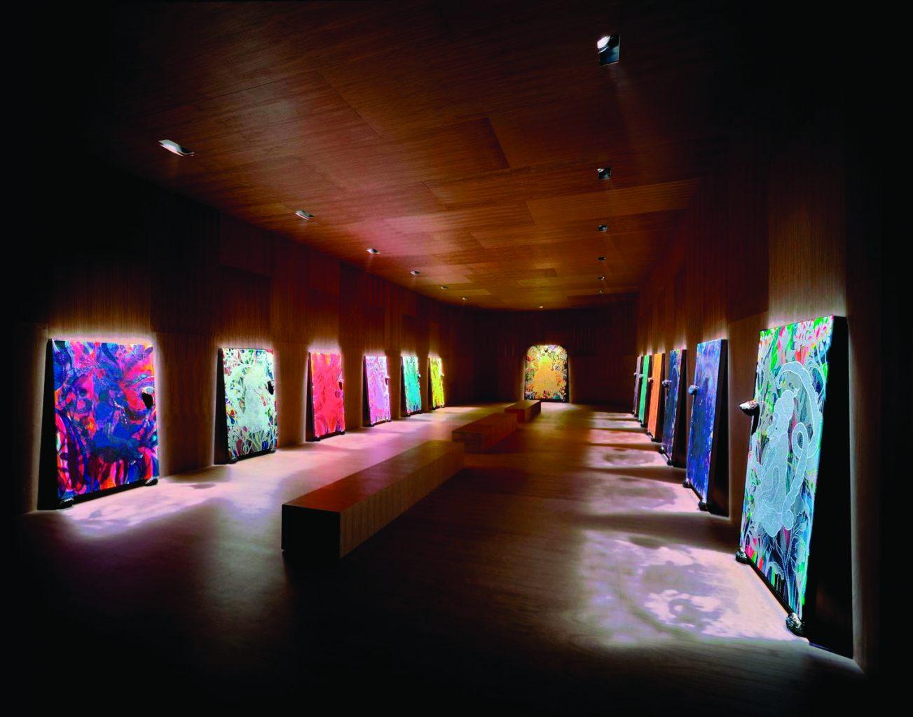 Chris Ofili, The Upper Room, installation à la  Victoria Miro Gallery, Londres. 1999-2002