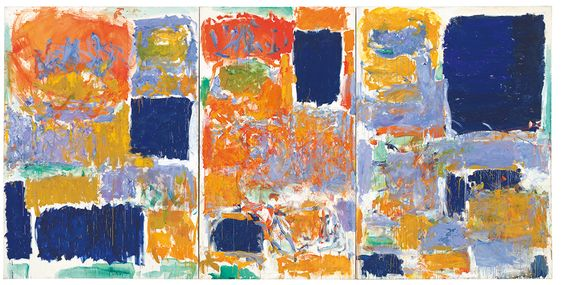 Joan Mitchell, Closed Territory, 1973, oil on canvas, triptych, 280 cm x 560 cm, © Estate of Joan Mitchell, private collection, photo: Günter König