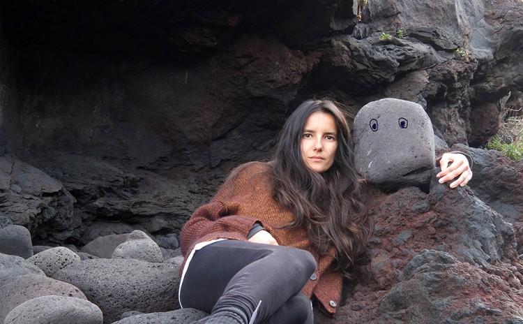 Joana Escoval avec ses amis de la nature