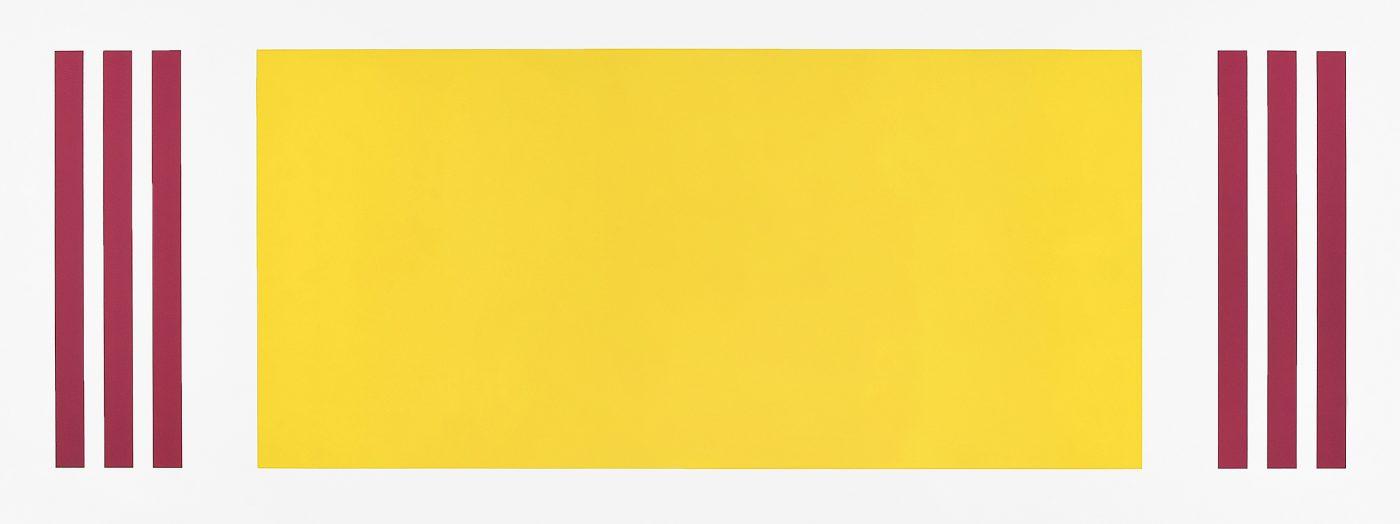 Francis Baudevin, Sans titre (carambar), 2013. Acrylique sur mur.