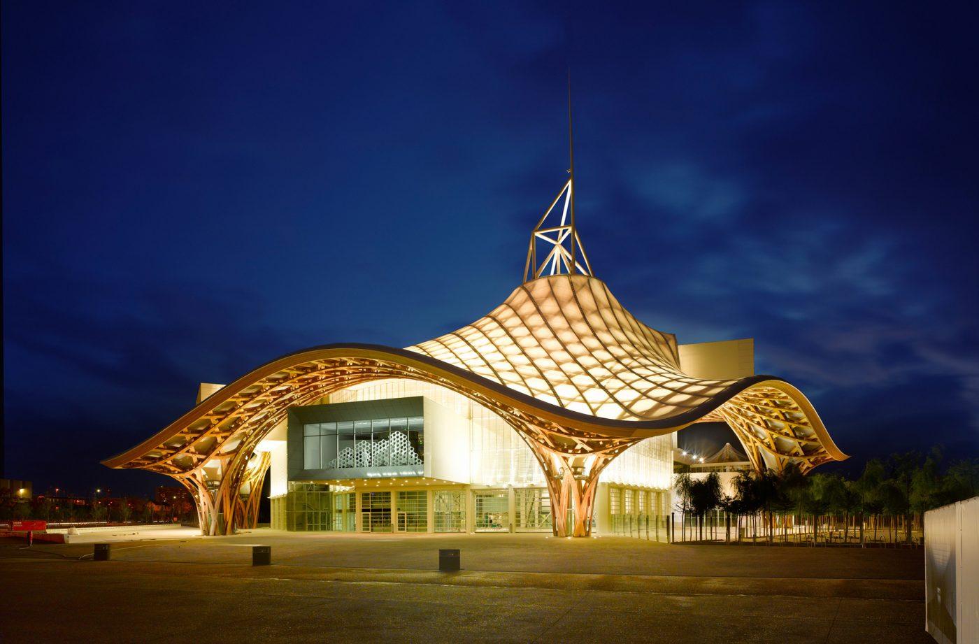 Le Centre Pompidou Metz vu de nuit