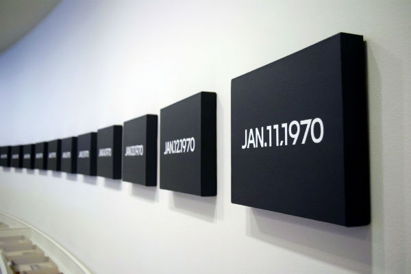 On Kawara, série Todays (peintures)
