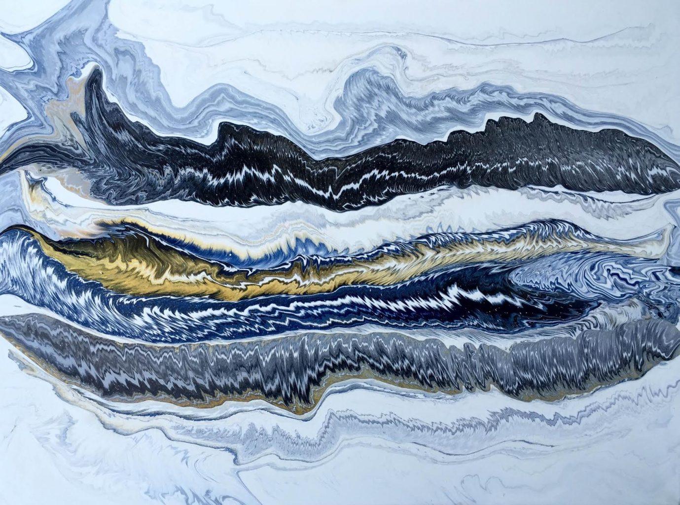 Silvère Jarrosson, Sans titre, acrylique sur toile, 116x81 cm, 2016