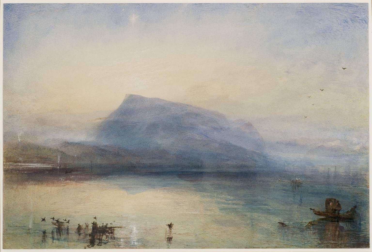 William Turner, The blue Rigi, Sunrise - 1842 (oeuvre et détails)