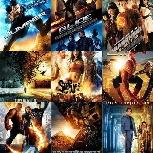 Exemples de posters de films hollywoodiens
