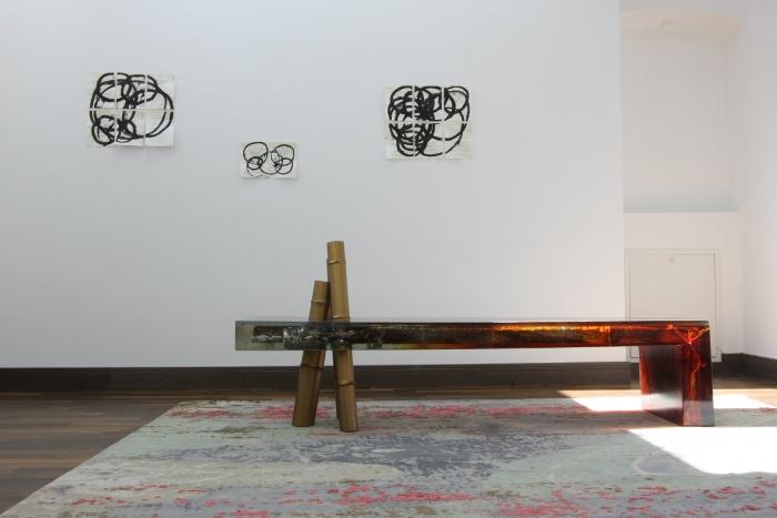 Song Tao, banc Osseus, Résine, pigment, bois et laiton, 2014