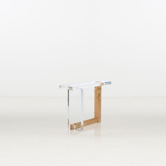 Song Tao, console Tiao An, bois et acrylique, 2012