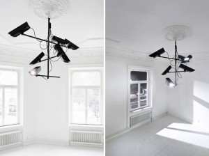 Humans since 1982, surveillance chandelier 2011