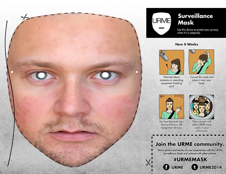 Leonardo Selvaggio, URME, Surveillance Identity Prosthetic, 2014. Image extraite du site leoselvaggio.com