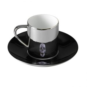 Damian Hirst, Coupe et tasse, Anamorphic cup and saucer love of god, en vete sur la boutique en ligne de la Tate