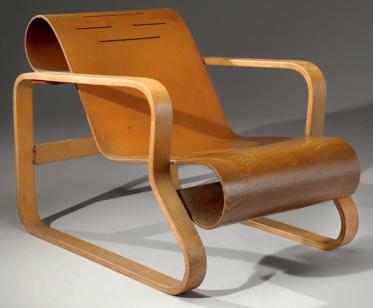 alvar aalto fauteuil paimio mod le n 41 1931 1932 art design tendance. Black Bedroom Furniture Sets. Home Design Ideas