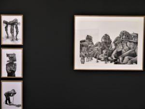 Toufik Medjamia, Dessins encres sur papier, Série (wearable architecture)