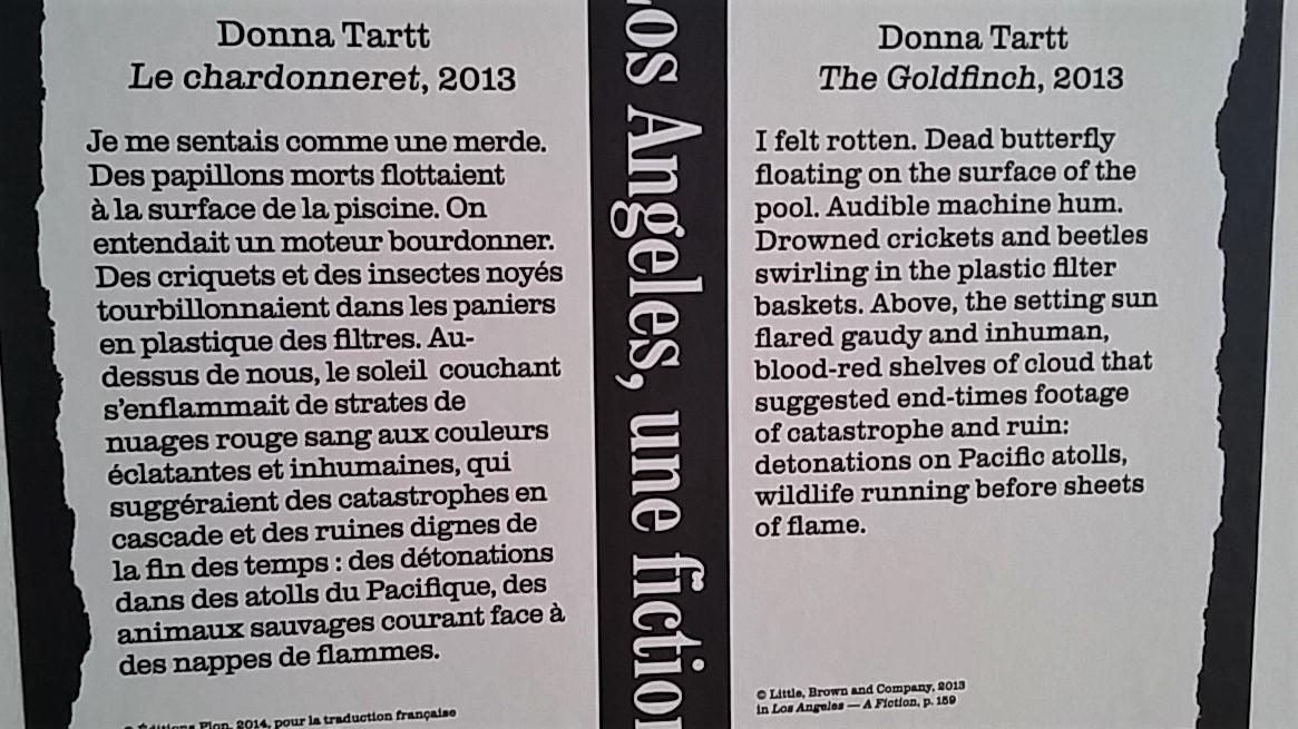 Donna Tartt, extrait Le Chardonneret, 1993, dans Los Angeles - Une fiction.