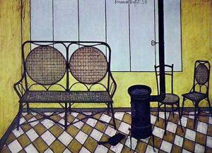 Bernard Buffet, Interieur, 1950
