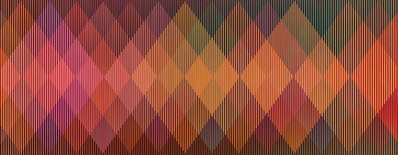 Carlos Cruz-Diez, Physichromie 508 (détail), 1970