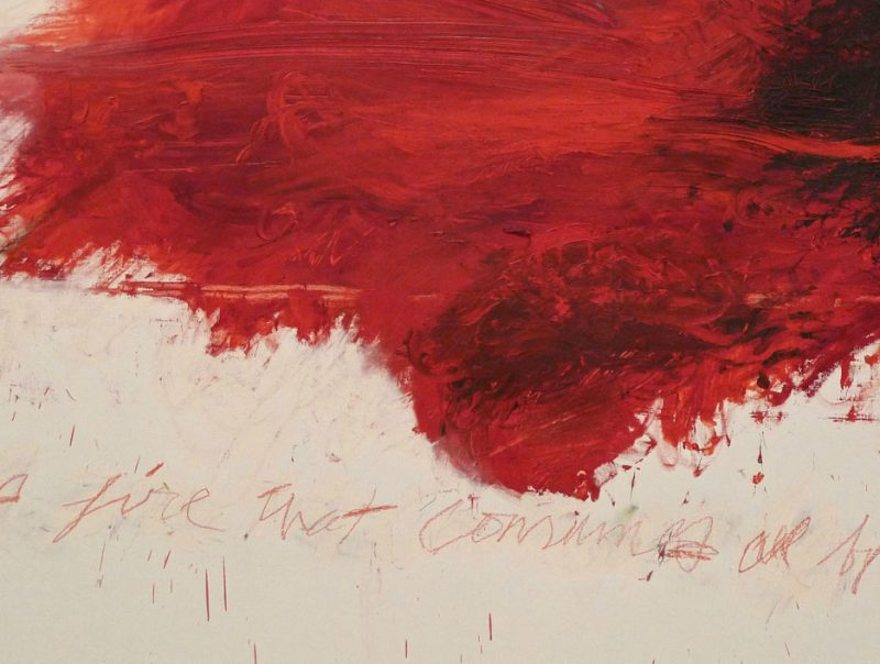 Cy Twombly, Like A Fire That Consumes Alll Before It, 1978.