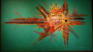 Une oeuvre de Georges Mathieu, chantre de l'abstraction lyrique
