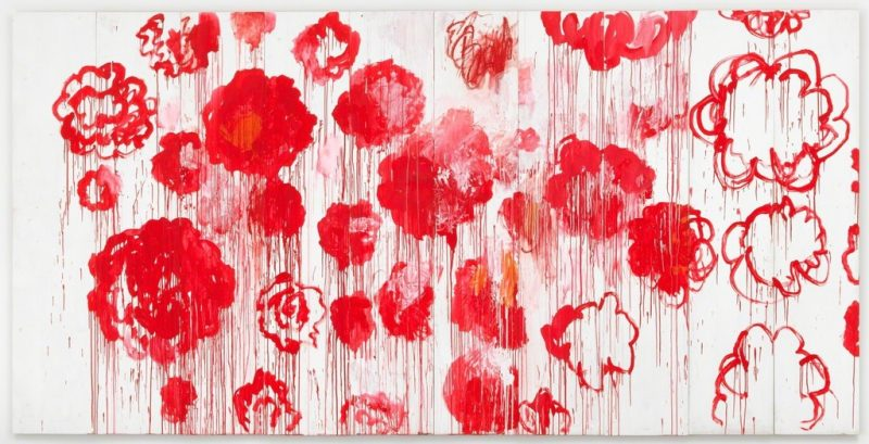 Blooming, Cy Twombly, 2001-2008,. © Cy Twombly Foundation. Collection Cy Twombly Foundation. Photography by Mike Bruce. Courtesy Gagosian Gallery.