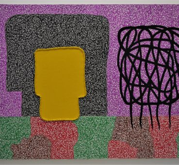 Peinture de Jonathan Lasker.