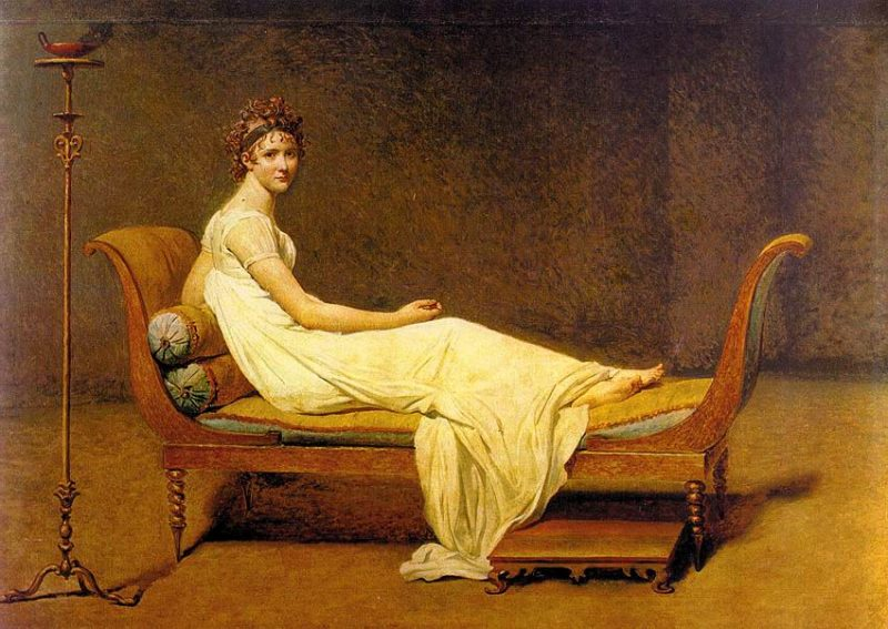 Portrait de Juliette Récamier, Jacques-Louis David, 1800
