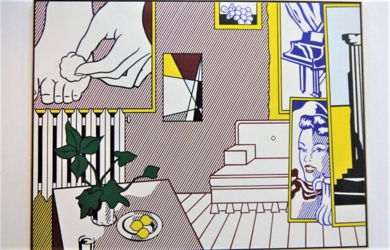 Roy Lichtenstein, Foot medication, from Artist's studio series, 1974. Photographie©FrançoisBoutard à l'occasion de l'exposition Roy Lichtenstein au Centre Pompidou -3 juillet 2013 au 4 novembre 2013. Quand l'artiste revisite les célèbres toiles de Matisse, L'Atelier Rose et l'Atelier Rose (1911).