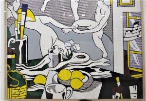 Roy Lichtenstein, The Dance, from Artist's studio series,1974. Une référence directe à Matisse