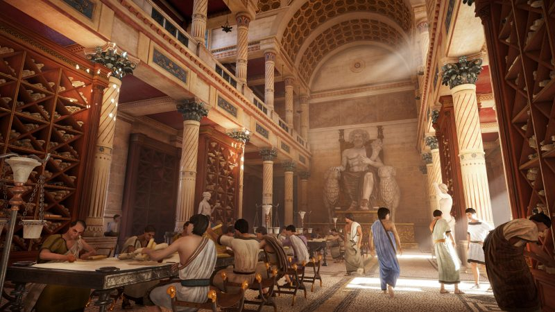Scène d'Assassin's Creed Origins. L'histoire se déroule en -49 dans l'Égypte antique
