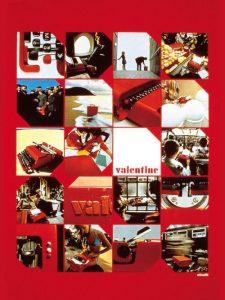 Publicités pour la machine à écrire portative Valentine.