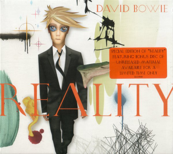 David Bowie, couverture de l'album Reality, 2003