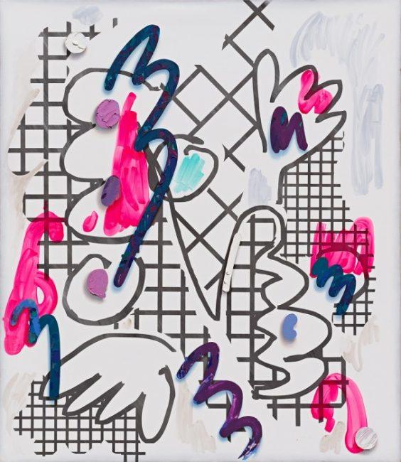 Laura Owens, autre tableau de la série Untitled