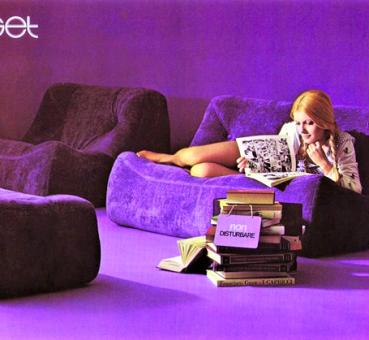 Ligne Roset, publicité pour canapé Kali