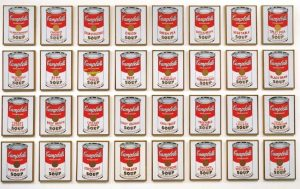 Andy Warhol's Soup Cans, 1962