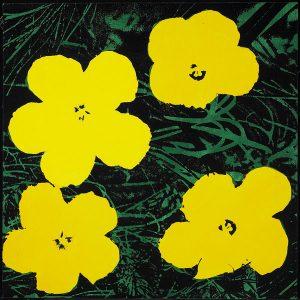 Elaine Sturtevant, Warhol Flowers, 1970