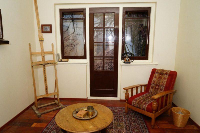 Une des pièces de l'escape room consacrée à Piet Mondriaan. Winterswijk, Pays-Bas