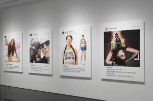 Richard Prince, vue de l'exposition New Portraits chez Larry Gagosian