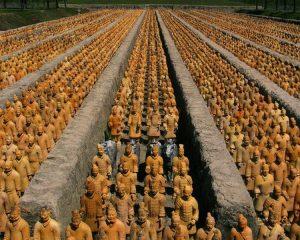 L'armée de terre cuite, dans le mausolée de l'empereur Qin
