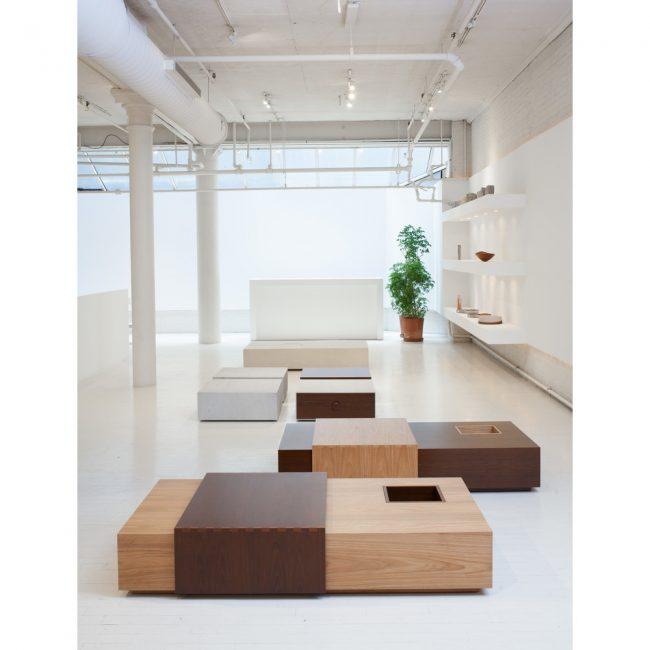 Tables basses à café Deslize. Design Claudia Moreira Salles.