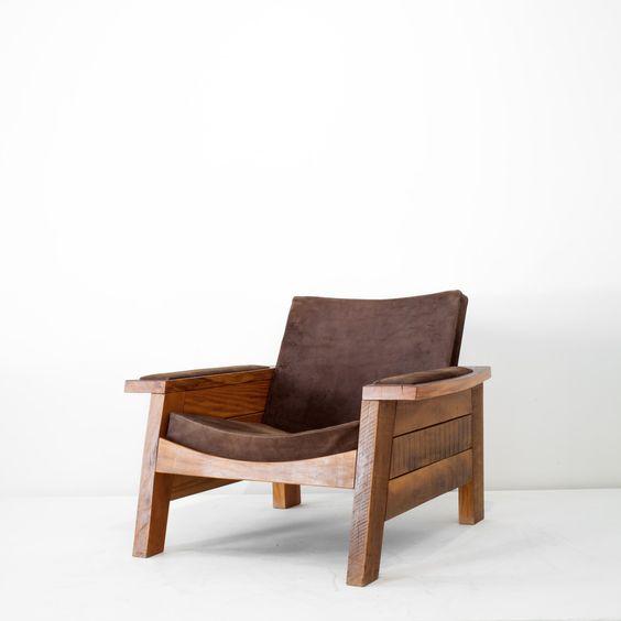 Fauteuil Braz, design Carlos Motta.