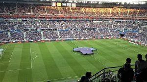 Enceinte du Groupama Stadium à Décines-Charpieu