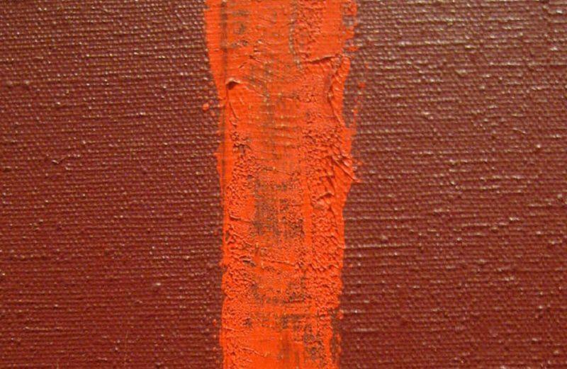 """Barnett Newman, """"Onement I"""" (1948) detail."""