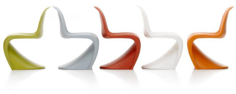 Chaises S, design Verner Panton, (1959-1960)