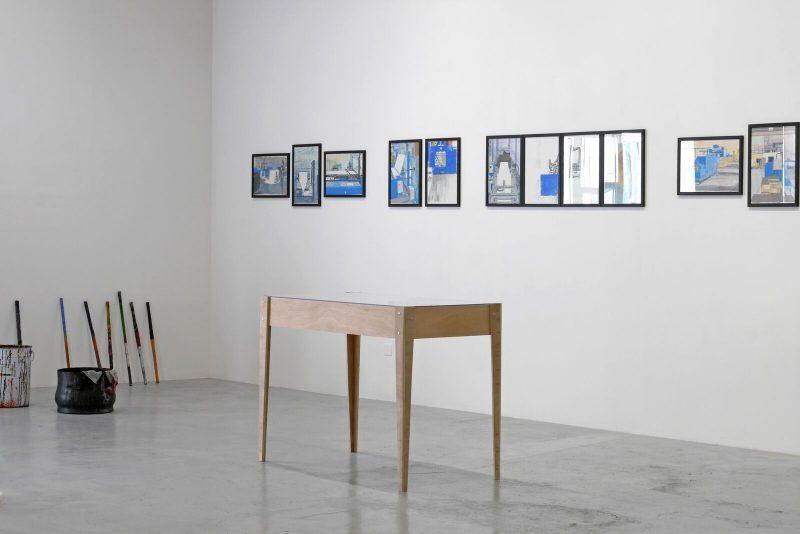 Mehdi Zannad, artiste en résidence dans l'entreprise Milhe & Avons.