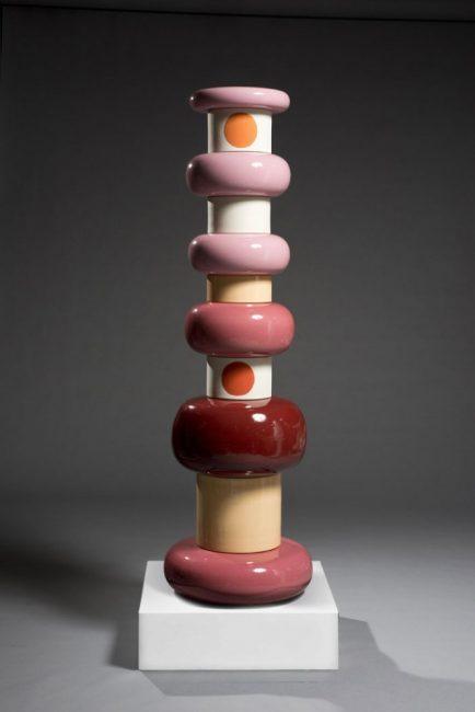 Ettore Sottsass, totem pour Bitossi, céramique