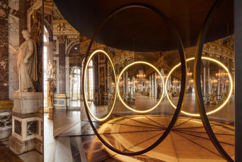 Installation Your Sense of Unity au Château de Versailles, 2016. Conception et réalisation Ólafur Elíasson