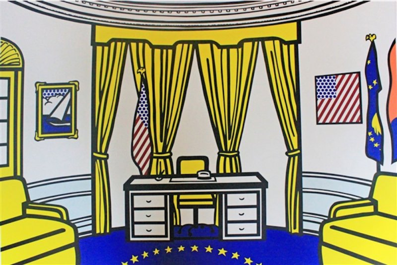 Roy Lichtenstein, Série Interieur, The Oval Office, 1992.