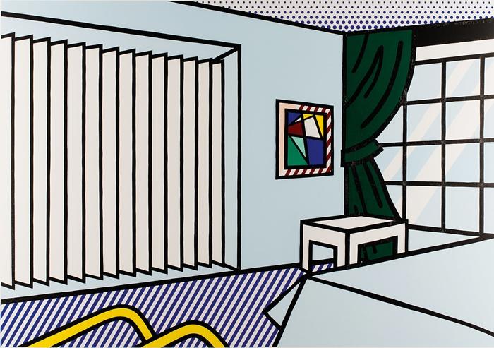Roy Lichtenstein, série Intérieur, Bedroom, 1990.